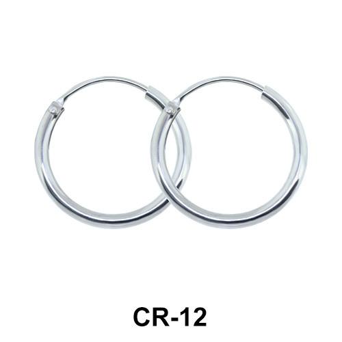Slimmer Hoop Earring CR-12 (1.0x12)