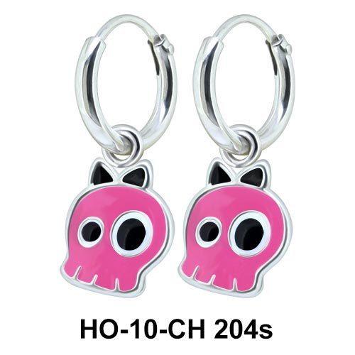 Kids Earring Charms Cute Skull Designed HO-10-CH-204s