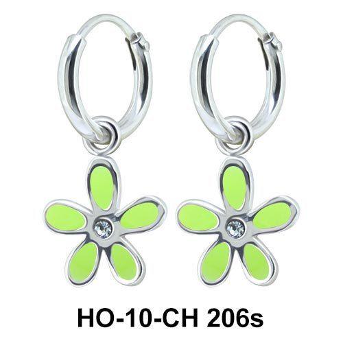 Kids Earring Charms Cute Flower Designed HO-10-CH-206s