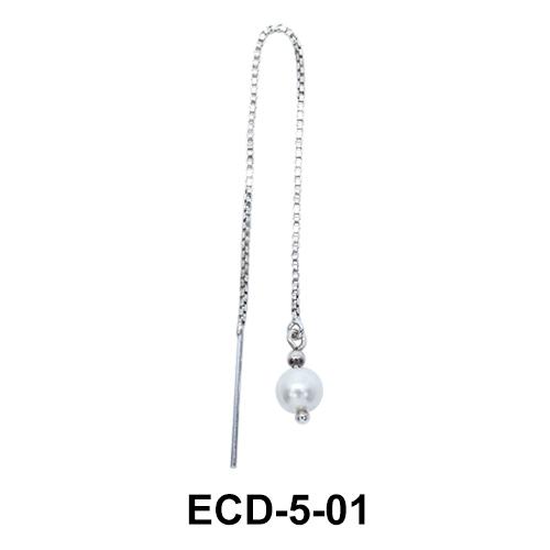Silver Chain Earring ECD-5-01
