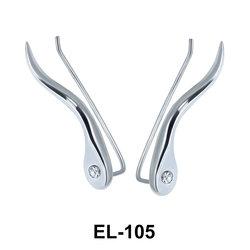 Silver Earring Slender Design EL-105