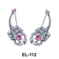 Silver Earring Scorpion Shape EL-112