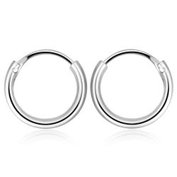 1.3mm Silver Hoop Earring CR-12