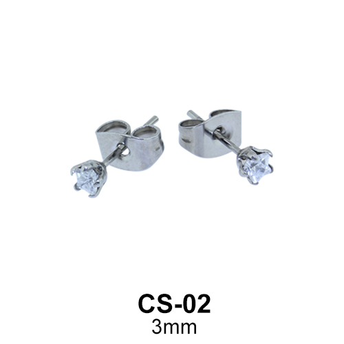 Star CZ Stud Earring CS-02