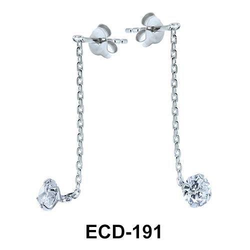 Stud Chain Earring ECD-191