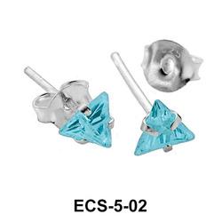 Stud Earring Triangle CZ ECS-5-02