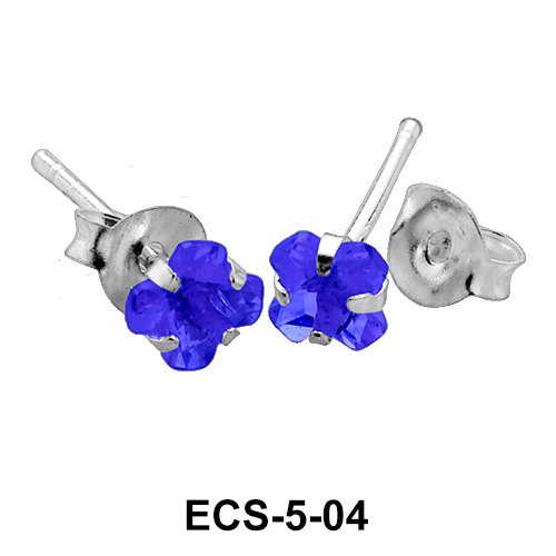 Prong Set Gemstone Ear Piercing ECS-5-04