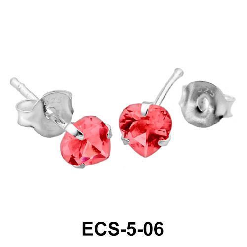Heart Stone Stud Earring ECS-5-06