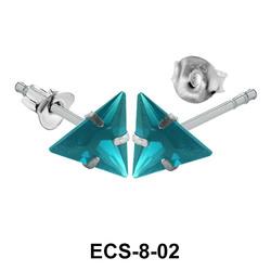 Stud Earring Big Triangle ECS-8-02