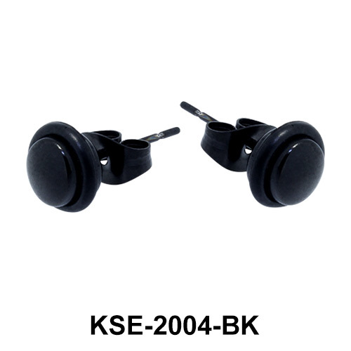 Black Surgical Steel Earring KSE-2004-BK