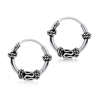 Knot n Snake Design Hoop Earrings HO-77