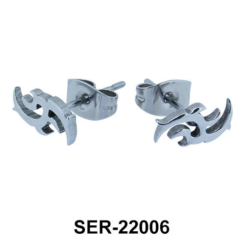 Inventive Design Surgical Steel Stud Earring SER-22006