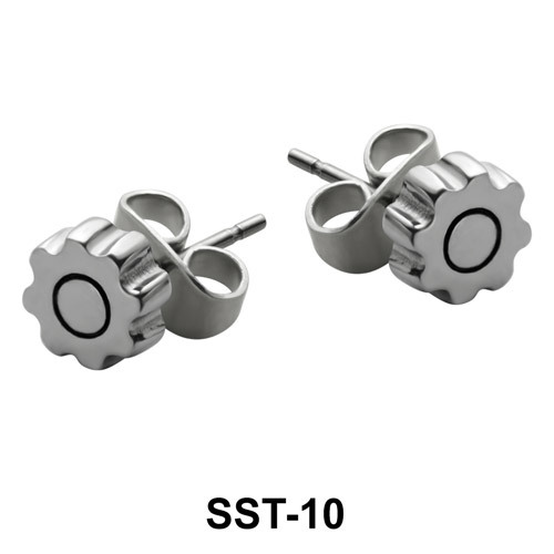 Gear Shaped Stud Earrings SST-10