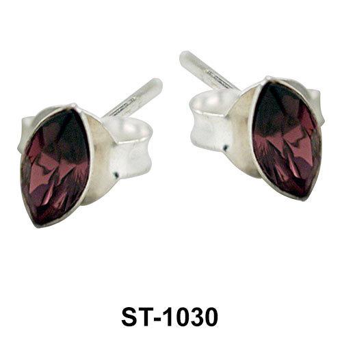 Stud Earring Oval Shape ST-1030