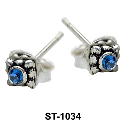 Stud Earring Middle Stone ST-1034