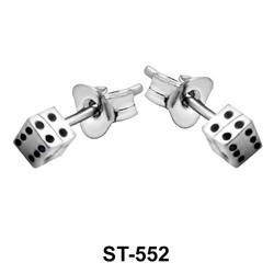 Stud Earring Dice Shape ST-552