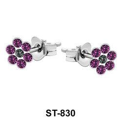 Stud Earring Shiny Flower ST-830