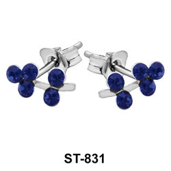 Stud Earring Small Plant ST-831