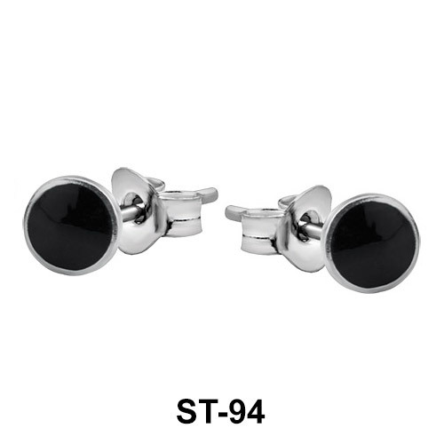 Stud Earring Circle Enamel ST-94