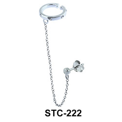Stud Earring with Ear Clips STC-222