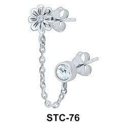 Cutie Flower Stud Earring Chain STC-76