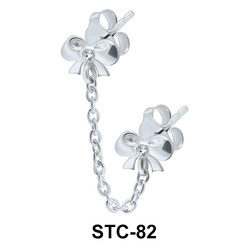 Stud Chain Double Bow STC-82