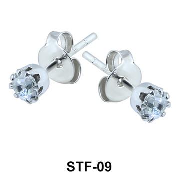 Prong Set Gemstone Stud Earrings STF-09