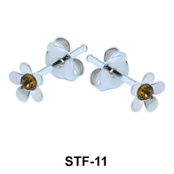 Silver Studs Earrings STF-11
