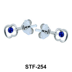 Stone Set Apple Shaped Stud Earrings STF-254