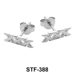 Triple X Silver Studs Earrings STF-388