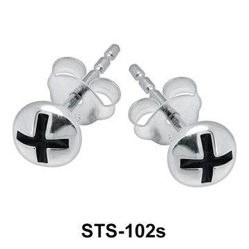 Plus in Balls Shaped Stud Earrings STS-102s