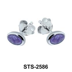 Charoite Stud Earring STS-2586
