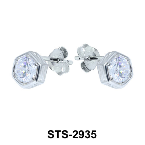 CZ Stone Stud Earring STS-2935