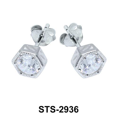CZ Stone Stud Earring STS-2936