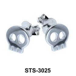 Stud Earring Skull Shape STS-3025