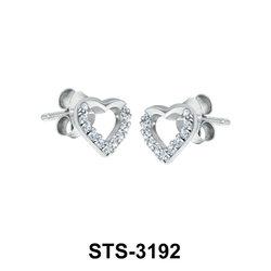Heart CZ Stud Earring STS-3192
