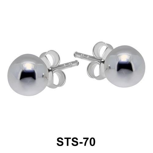 Ball Shaped Stud Earrings STS-70