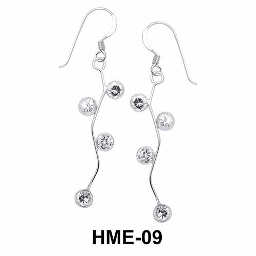 Silver shoot Shaped Earrings HME-09