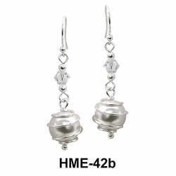 Silver Earrings with Wired Balls HME-42b