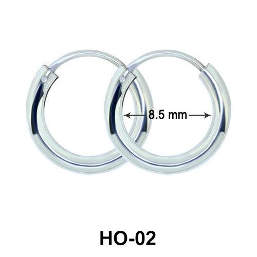 Silver Hoop Earring HO-02