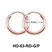 8 mm Silver Hoop Earring HO-03