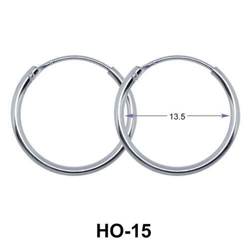 13.5mm Silver Hoop Earrings HO-15