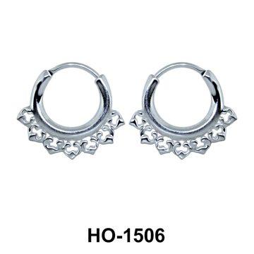 Silver Hoop Earring HO-1506