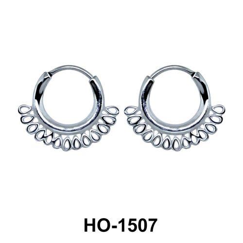 Silver Hoop Earring HO-1507
