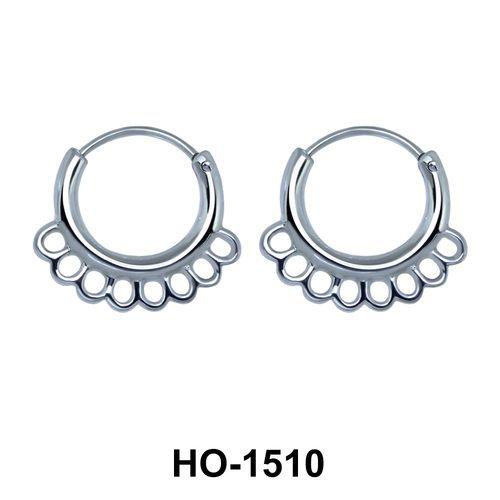 Silver Hoop Earring HO-1510