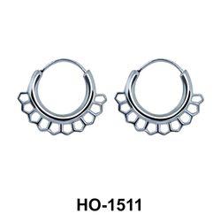 Silver Hoop Earring HO-1511