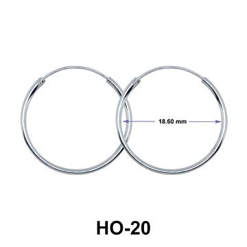 18.6mm Silver Hoop Earrings HO-20