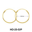 23.90mm Silver Hoop Earrings HO-25