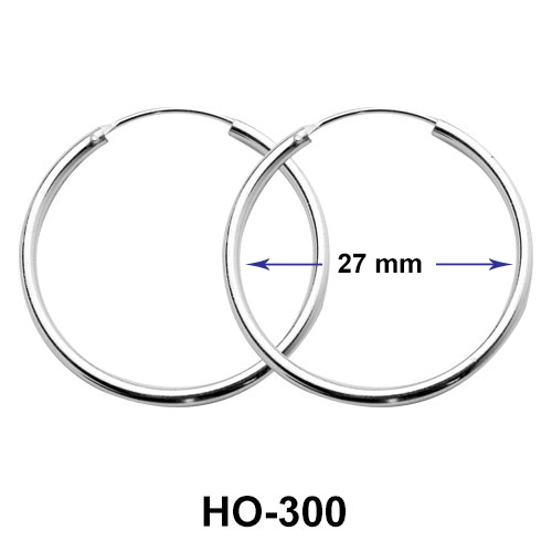 27mm Silver Hoop Earrings HO-300