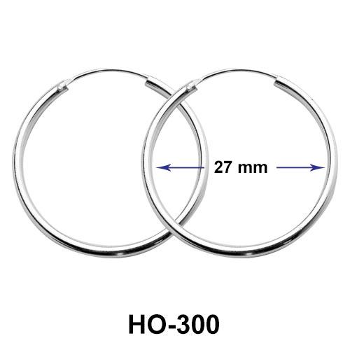 27mm Silver Hoop Earrings HO-300